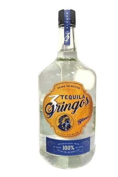 3 Gringos Blanco Tequila