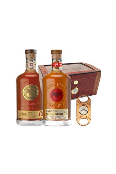 Bacardi Humidor With Bacardi 8 Year And 10 Year Rum