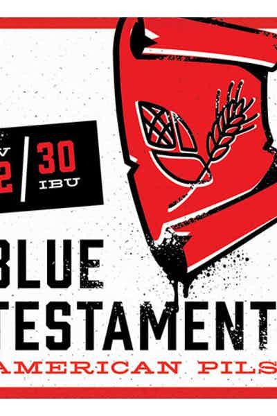 Back Pew Blue Testament