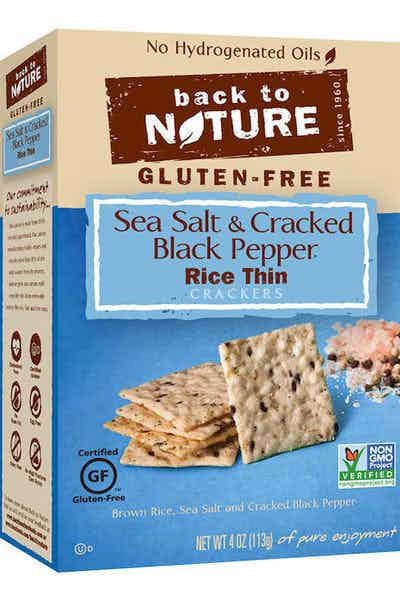 Back To Nature Sea Salt & Black Pepper Rice Crackers