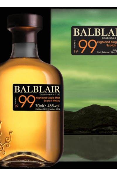 Balblair Single Malt Scotch 1999