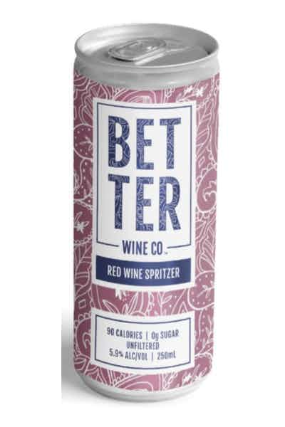 Better Wine Co. Red Wine Spritzer