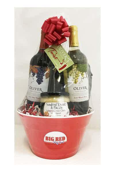 Big Red Bowl Oliver Twist Sweet