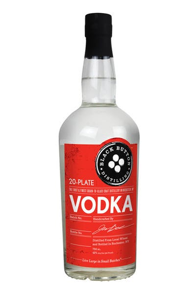 Black Button 20 Plate Vodka