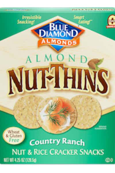 Blue Diamond Almond Nut Thins Country Ranch