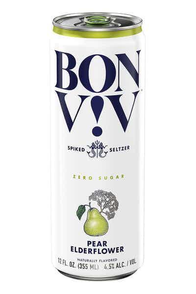 BON V!V Spiked Seltzer Pear Elderflower