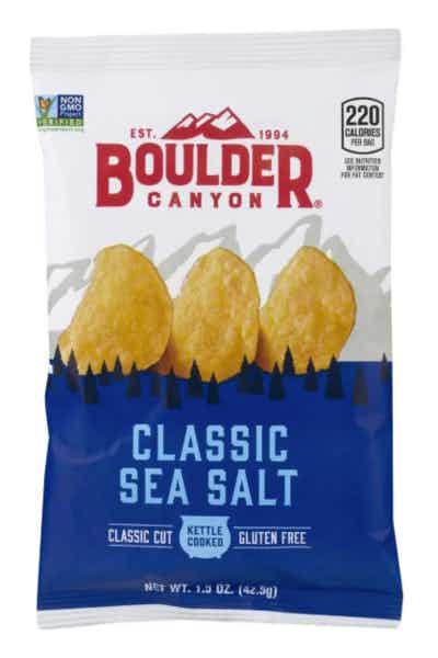 Boulder Canyon Kettle Potato Chips, Natural Sea Salt
