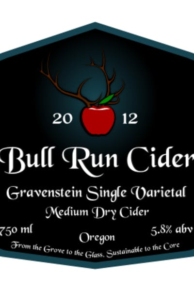 Bull Run Gravenstein Single Varietal Cider
