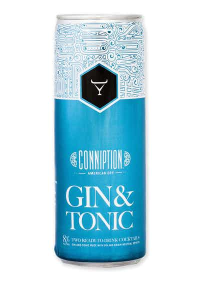 Conniption American Dry Gin & Tonic Canned Cocktail  4-pack