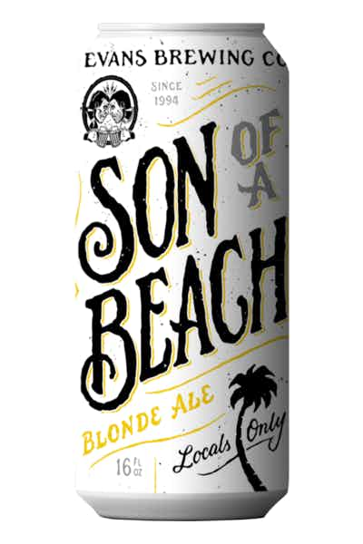 Evans Brewing Son Of A Beach Blonde Ale