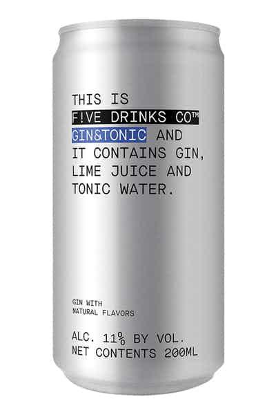 Five Drinks Co Gin & Tonic