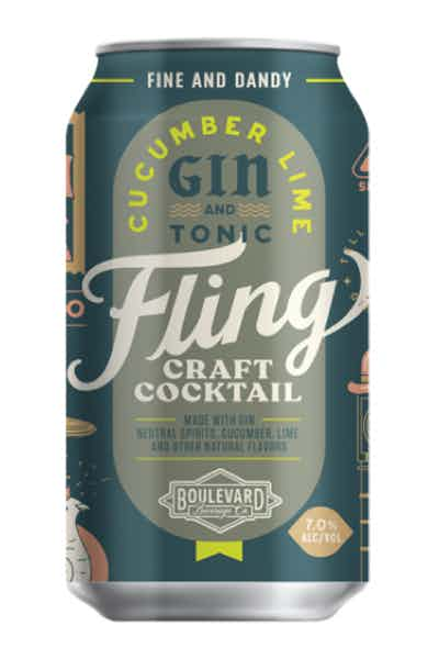 Fling Cocktails Cucumber Lime Gin & Tonic