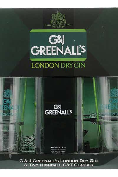 G&J Greenall's Gin Gft W Glasses