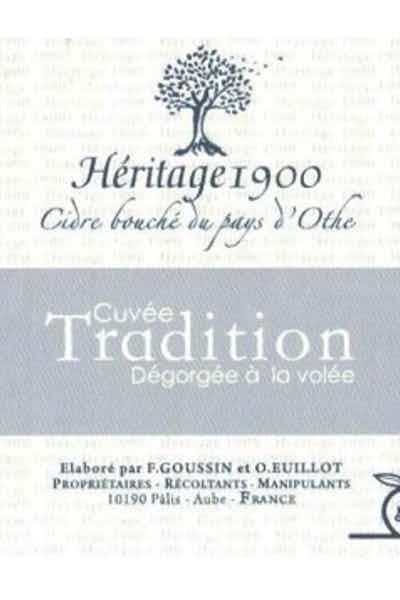 Goussin Cider Heritage 1900 Cuvee Tradition