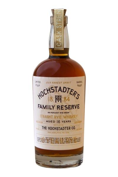 Hochstadter's Family Reserve Cask Strength Straight Rye 16 Year