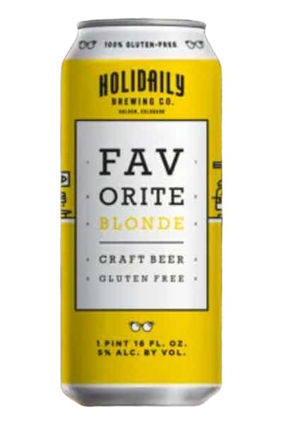 Holidaily Brewing Favorite Gluten Free Blonde Ale