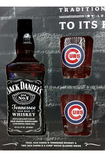 Jack Daniel's Old No. 7 W/ Cubs Glasses