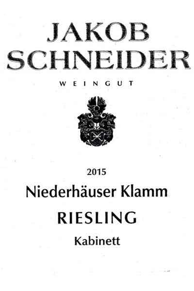 Jakob Schneider Riesling Niederhauser Klamm 2015