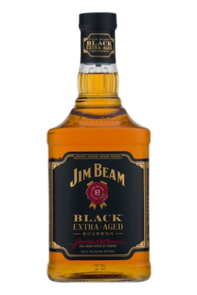 Jim Beam Black Bourbon Whiskey with Flask