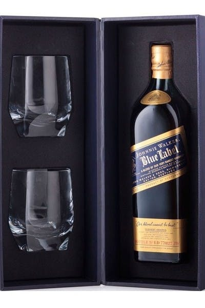 Johnnie Walker Blue Label With Two Glasses