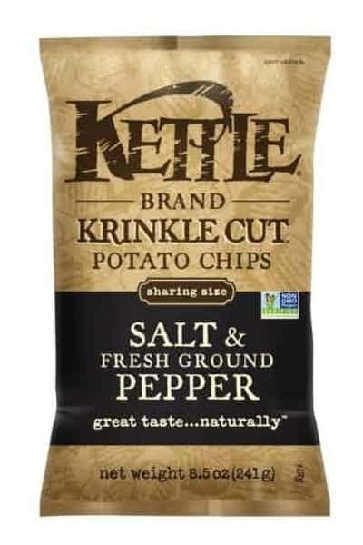 Kettle Krinkle Cut Potato Chips Salt & Pepper