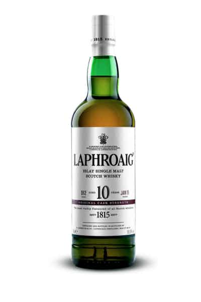 Laphroaig Cask Strength Islay Single Malt Scotch Whiskey 10 Year