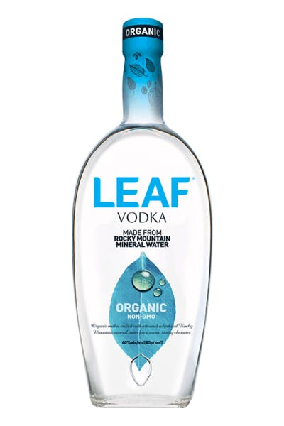 Leaf Organic Rocky Mountains Water Vodka