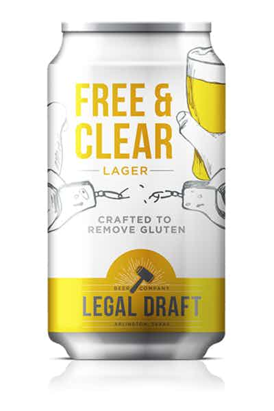 Legal Draft Free And Clear Gluten Free Lager