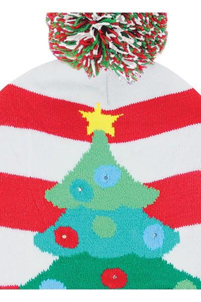 Light Up Knit Hat   Tree
