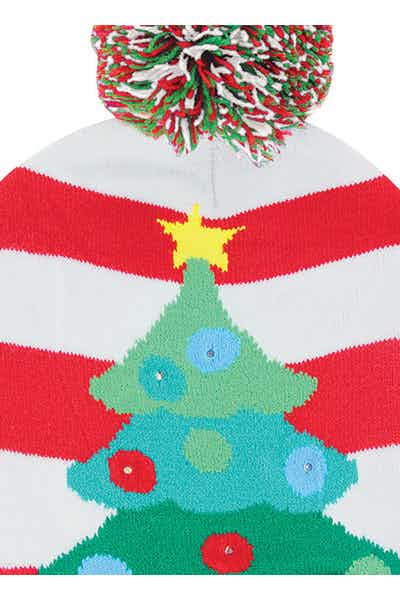 Light Up Knit Hat   Tree