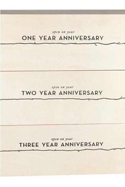 Newlyweds Anniversary Wine Box Box