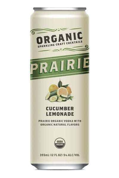 Prairie Organic Sparkling Craft Cocktails Cucumber Lemonade