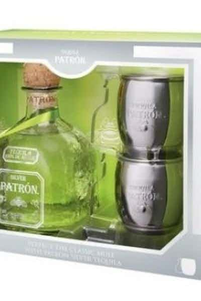 Patron Silver Gift Set with 2 Mule Mugs