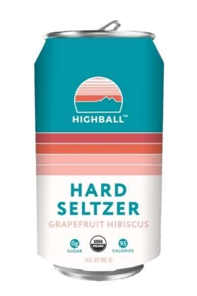 Peak Organic Highball Grapefruit Hibiscus Hard Seltzer