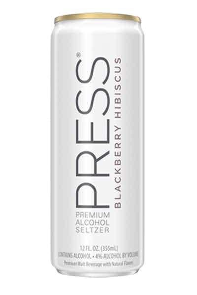 PRESS Premium Hard Seltzer  Blackberry Hibiscus