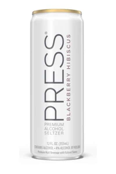Press Spiked Seltzer Blackberry Hibiscus