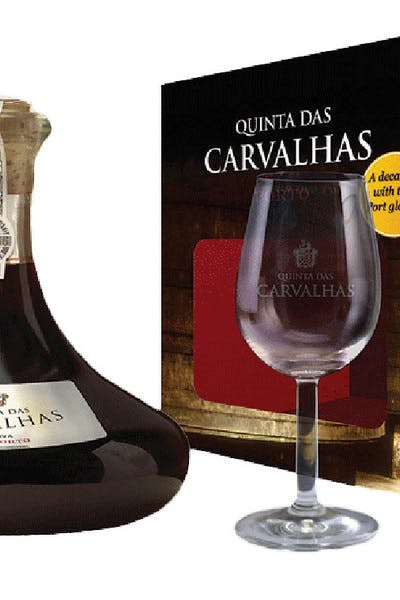 Quinta Das Carvalhas Ruby Port Reserva Decanter 2 Glass Box