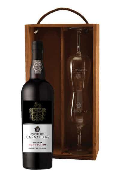 Quinta Das Carvalhas Tawny Port Reserva 2 Glass Gift