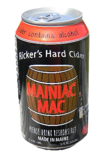 Ricker's Hard Cider Mainiac Mac