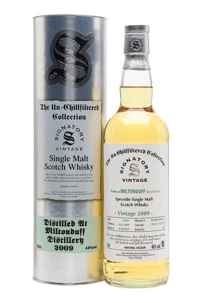 Signatory Miltonduff 2009 Single Malt Scotch Whiskey