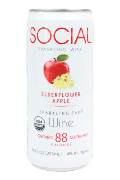 Social Edlderflower Apple Sparkling Sake Wine