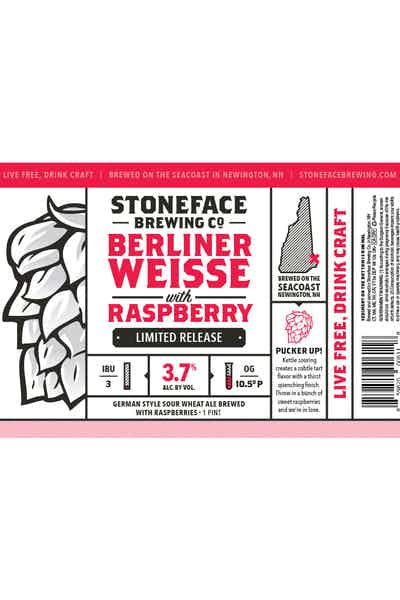 Stoneface Berliner Weisse with Raspberry