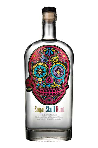 Sugar Skull Tribal Silver Rum