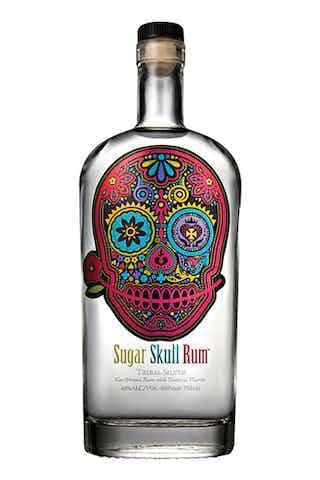 Sugar Skull Tribal Silver Rum