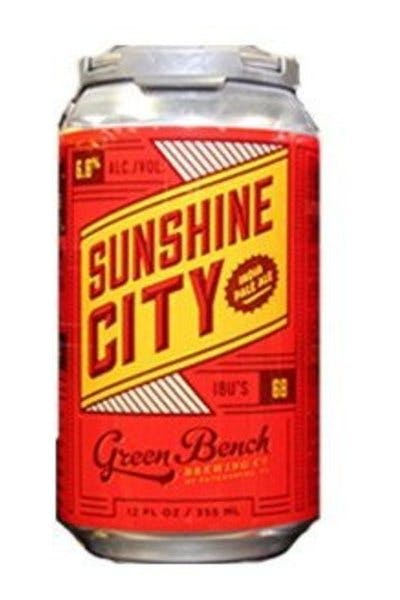 Sunshine City Green Bench