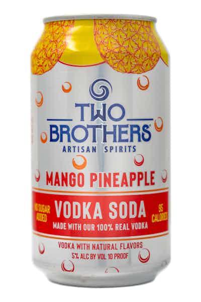 Two Brothers Mango Pineapple Vodka Soda
