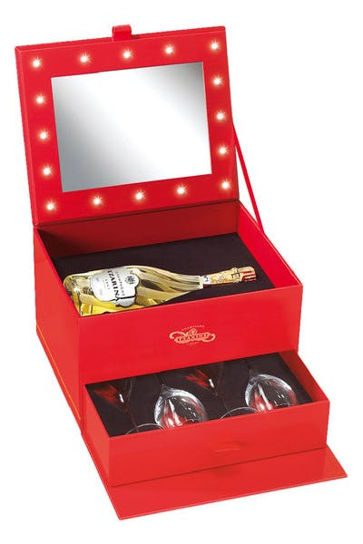 Tzarina Brut Make Up Case With 4 Glasses