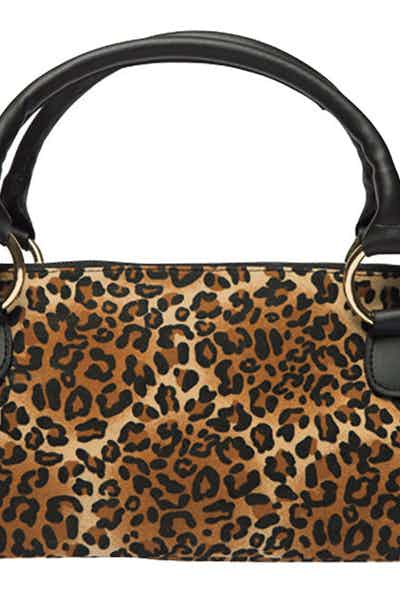 Wine Purse Fashion Leopard
