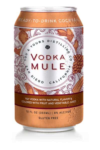 Y&Y Vodka Mule Canned Cocktail